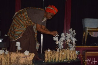 "Sherre Bishop performed her one-woman show, ""From the Motherland to the Promise Land""."