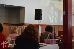 Joyce Kyles spoke via video recording on how to handle life after leaving an abusive relationship.